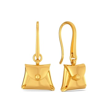 Classic Clasps Gold Earrings