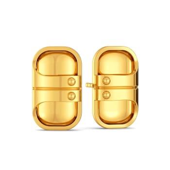 Double Rubble Gold Earrings