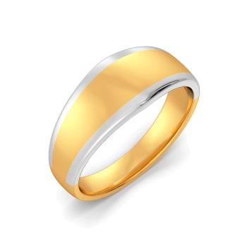 Dune Drop Gold Rings