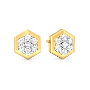 Orb Reverb Diamond Earrings