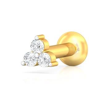 Tri-Light Diamond Nose Pins