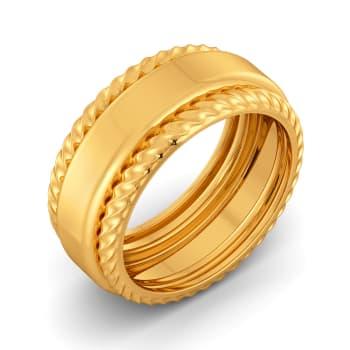 Twirl N Curl Gold Rings