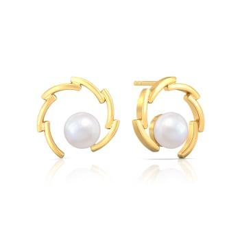 Whirl Pearl Gemstone Earrings