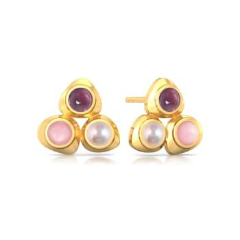 Cherry Blossom Gemstone Earrings