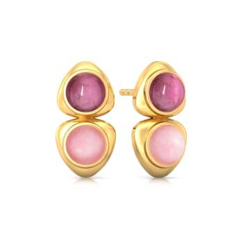 Bold Blush Gemstone Earrings