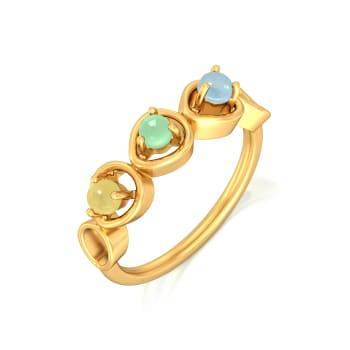 Hello Cakesicles Gemstone Rings