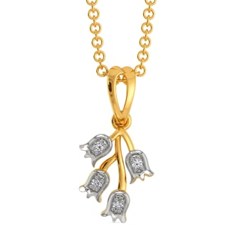 Daffodil Dreams Diamond Pendants