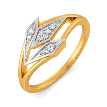 Edgy Angles Diamond Rings