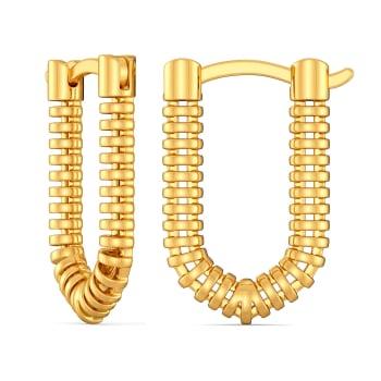 Relaxed Raffia Gold Earrings