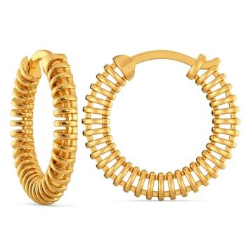 Raffia Interlocked Gold Earrings