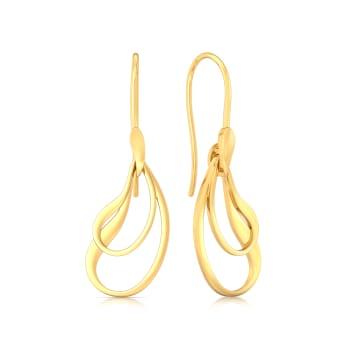Wonder Wave Gold Earrings
