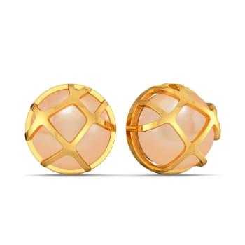 Peach Pin Up Gemstone Earrings