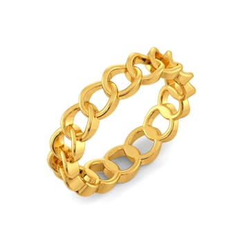 Chain Domain Gold Rings