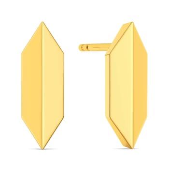 Dapper Dance Gold Earrings