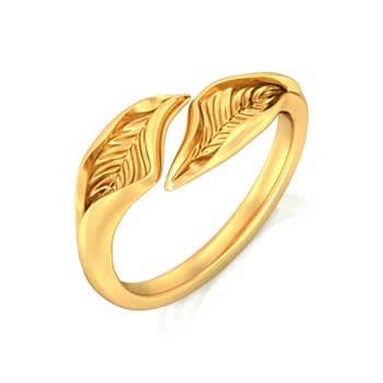 Lure of Verdure Gold Rings