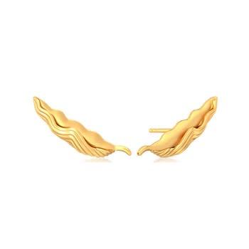 Lure of Verdure Gold Earrings