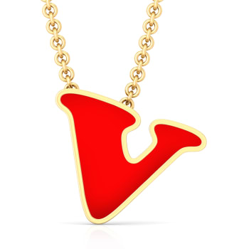 V for victory Gold Pendants