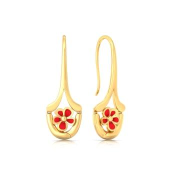 Flashdance  Gold Earrings