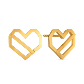Hearty Hit Gold Earrings