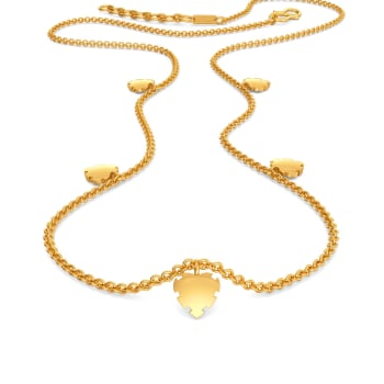Fantasy Heart Gold Necklaces