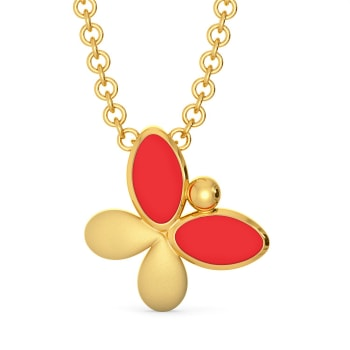 The Rad Red  Gold Pendants