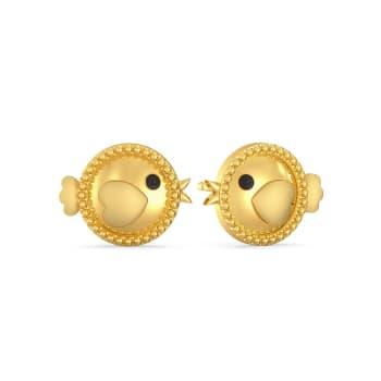 Bright Flight Gold Earrings