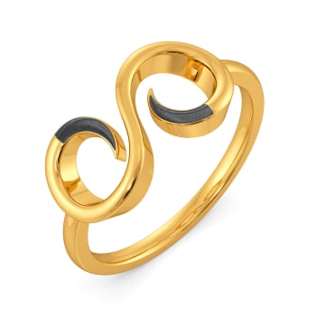 Back to Black Gold Rings