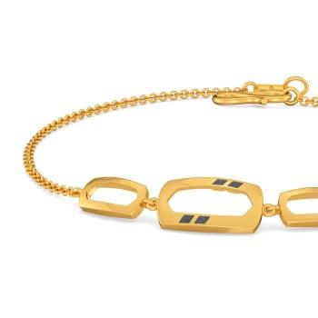 Boldly Black Gold Bracelets