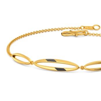Black N Gold Gold Bracelets