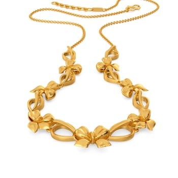 Joy of Bows Gold Necklaces