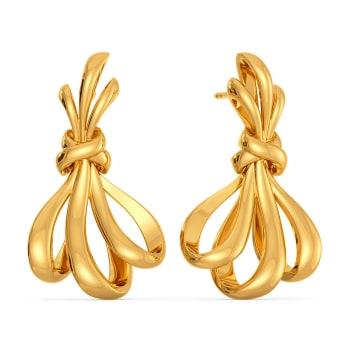 Bow Delight Gold Earrings