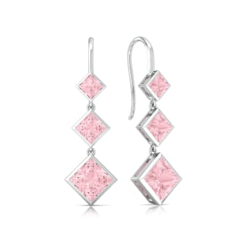 Pink Candy Gemstone Earrings