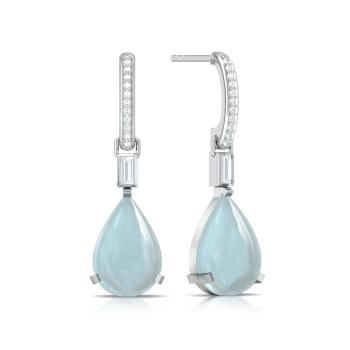 Blue Ice Diamond Earrings
