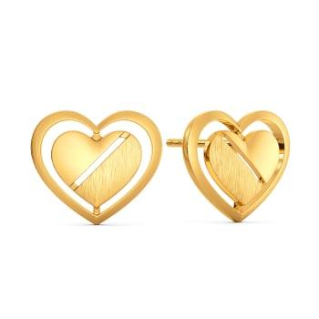 Parisian Hearts Gold Earrings