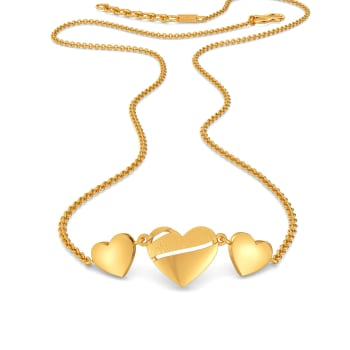 Heart Poise Gold Necklaces