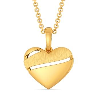 Heart Poise Gold Pendants