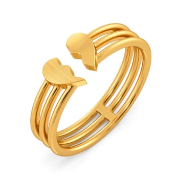 Carre Ardor Gold Rings