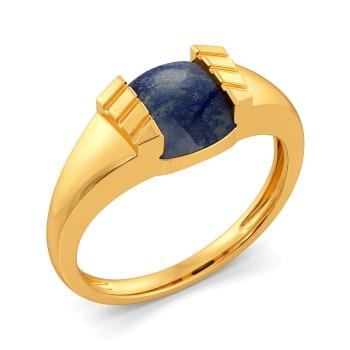 Spot in Denim Gemstone Rings