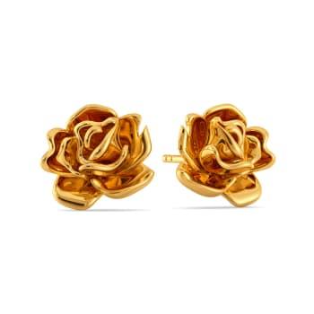 Sinister Bloom Gold Earrings