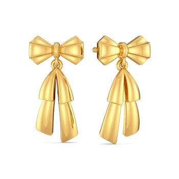 Butterfly Knots Gold Earrings