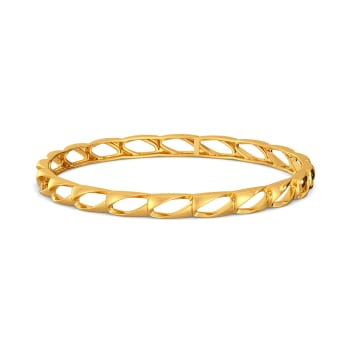 Hold The Fold Gold Bangles