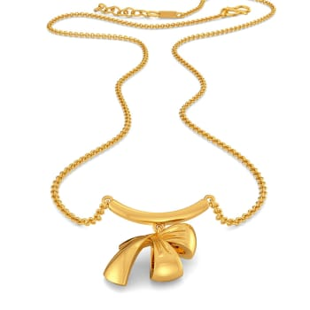 Knotty Bows Gold Necklaces