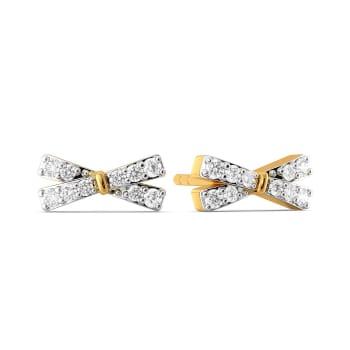 Lustrous Loops Diamond Earrings