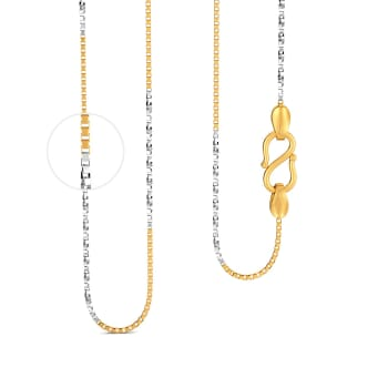 22kt Venetian Twist Rodium Chain Gold Chains