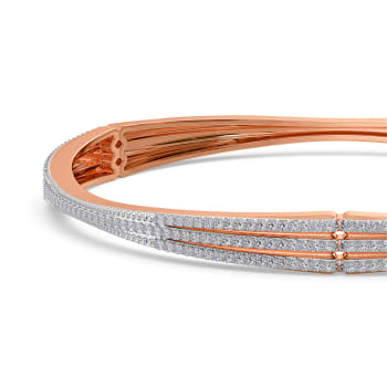 Stem to Shimmer Diamond Bangles