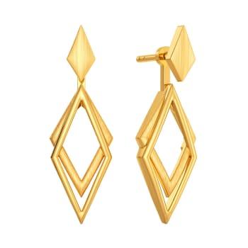 Jager Jet Gold Earrings
