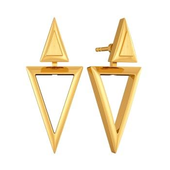 Troika Tab Gold Earrings