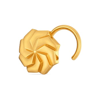 Urbane Hexa Gold Nose Pins