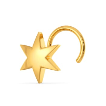 Star Crossed Gold Nose Pins