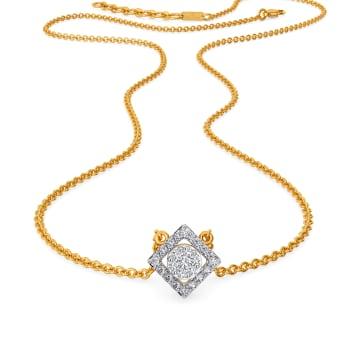 Suave E Square Diamond Necklaces
